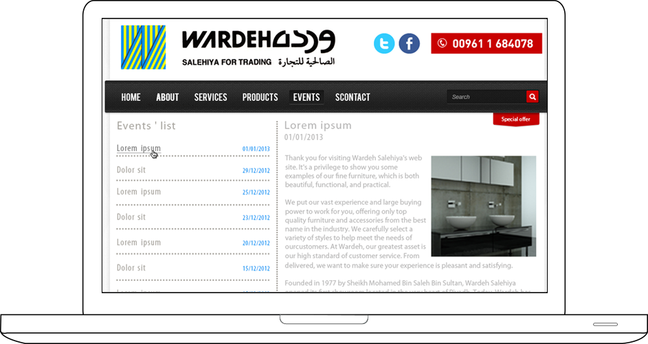 Wardeh Salehiya Web Design & Development