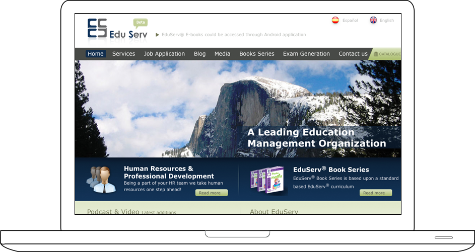 Eduserv website design & development
