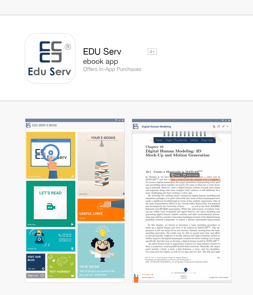 Eduserv android mobile application